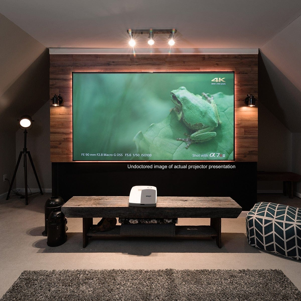 WATCHING-VIDEO-IN-WALL-BY-PROJECTOR